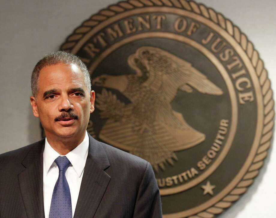 Attorney General Eric Holder speaks during  a news conference in New Orleans, Thursday, June 28, 2012. The Obama administration and House Republicans refused to find a middle ground in a dispute over documents related to a botched gun-tracking operation, and the GOP plunged ahead with plans for precedent-setting votes Thursday to hold Attorney General Eric Holder in civil and criminal contempt o Congress. Photo: AP