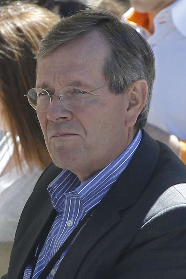 Former Health and Human Services Secretary and former Utah Gov. Mike Leavitt is seen at a private donors' conference for Republican presidential canddate Mitt Romney at The Chateaux at Silver Lake at Deer Valley Resort in Park City, Utah, Saturday, June 23, 2012. (AP Photo/Charles Dharapak) Photo: Charles Dharapak, Associated Press