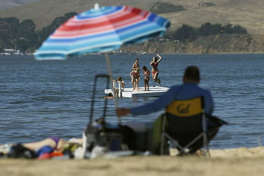 Kids play at Tomales Bay State Park. The threat of park closures may have been undermined by the discovery of extra funds. Photo: Michael Macor, The Chronicle