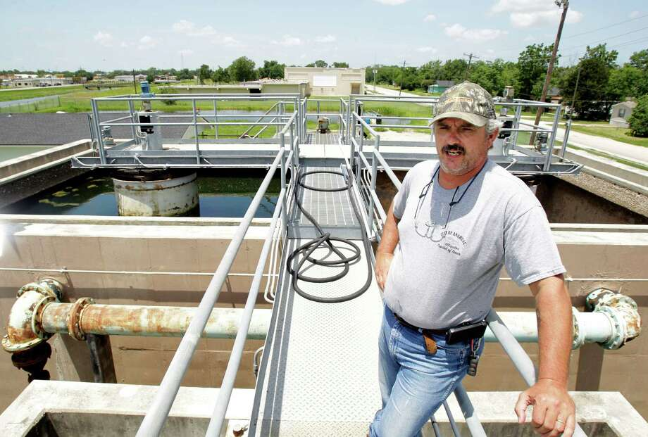 Scott Wible is the city of Anahuac water treatment plant operator. The city cannot reopen the plant until it is rehabilitated, and it is buying water, at an increased rate, from Trinity Bay Conservation District. Photo: Melissa Phillip / © 2012 Houston Chronicle