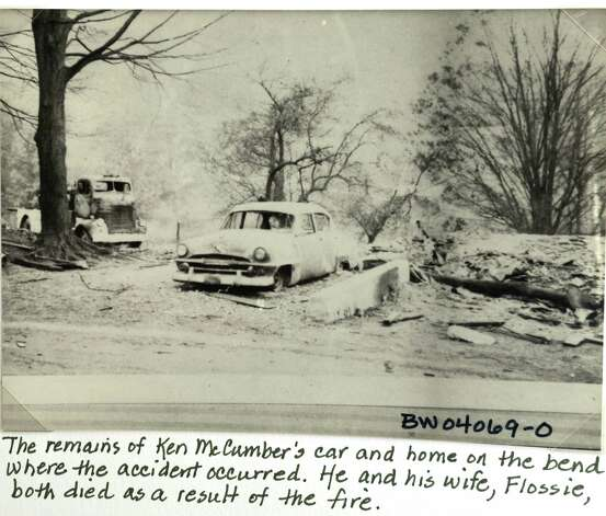 A historical image of the total devastation of the McCumber home in Berlin, N.Y. after the propane fire in 1962.  (/Times Union archive) Photo: Skip Dickstein / 00018270A