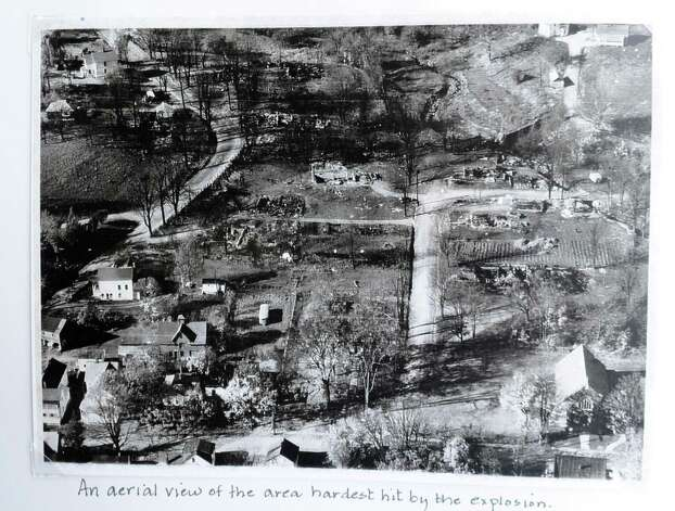 A historical aerial image of the total devastation of Berlin, N.Y. after the propane fire in 1962.  (Times Union archive) Photo: Skip Dickstein / 00018270A