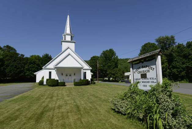 The rebuilt First Baptist Church in Berlin, N.Y. June 28, 2012.  (Skip Dickstein/Times Union) Photo: Skip Dickstein / 00018270A