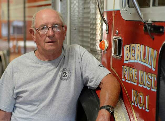 Rensselaer County Fire Coordinator Ivan Wager is the only firefighter living that responded to the 1962 propane fire that devastated the village of Berlin sits above Route 22 in Berlin, N.Y. July 6. 2012.  (Skip Dickstein/Times Union) Photo: Skip Dickstein / 00018360A