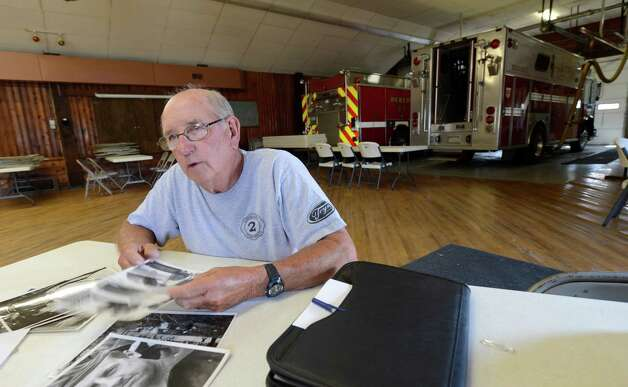 Rensselaer County Fire Coordinator Ivan Wager is the only firefighter living that responded to the 1962 propane fire that devastated the village of Berlin sits above Route 22 in Berlin, N.Y. July, 6 2012.  (Skip Dickstein/Times Union) Photo: Skip Dickstein / 00018360A
