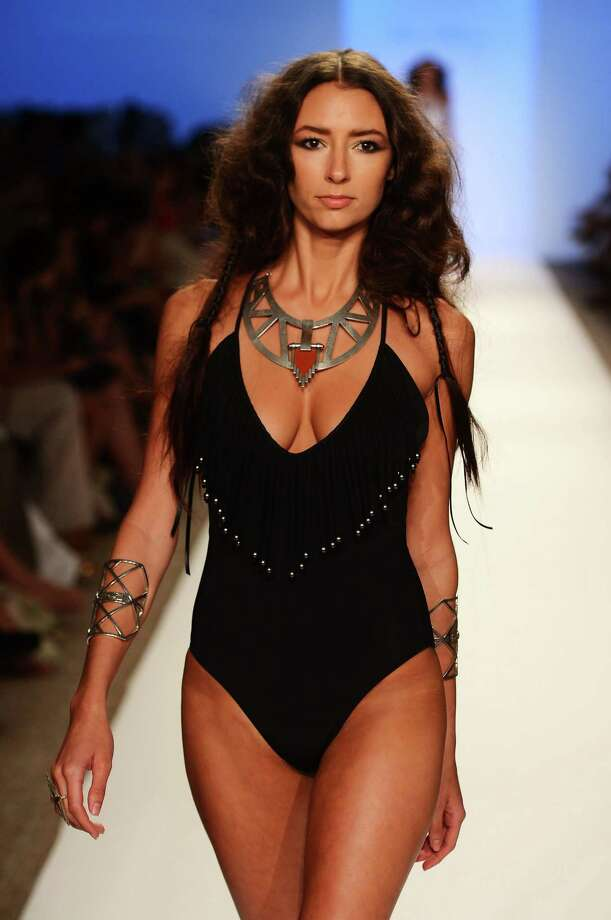 A model walks the runway at the Mara Hoffman show. Photo: Frazer Harrison, Getty Images For Mercedes-Benz Fashion Week Swim 2013 / 2012 Getty Images