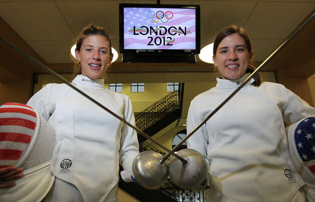 Kelley and Courtney Hurley: Fencing, women's epee, USA Photo: KIN MAN HUI, San Antonio Express-News / ©2012 SAN ANTONIO EXPRESS-NEWS