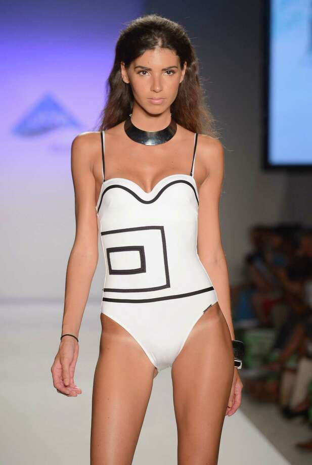 A model walks the runway at the Xtra Life Lycra Brand show. Photo: Frazer Harrison, Getty Images For Mercedes-Benz Fashion Week Swim 2013 / 2012 Getty Images