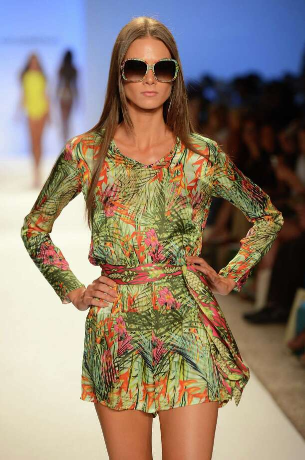 A model walks the runway at the Cia Maritima show. Photo: Frazer Harrison, Getty Images For Cia Maritima / 2012 Getty Images