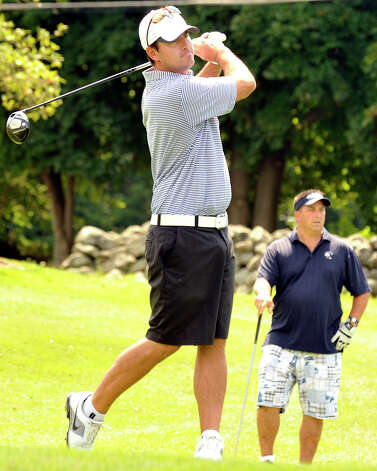 John Belicka plays in the 22nd Annual Danbury Amateur golf championship at Richter Park Golf Course Sunday, July 22, 2012. Photo: Michael Duffy / The News-Times