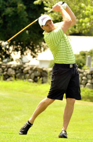 Nick Marona plays in the 22nd Annual Danbury Amateur golf championship at Richter Park Golf Course Sunday, July 22, 2012. Photo: Michael Duffy
