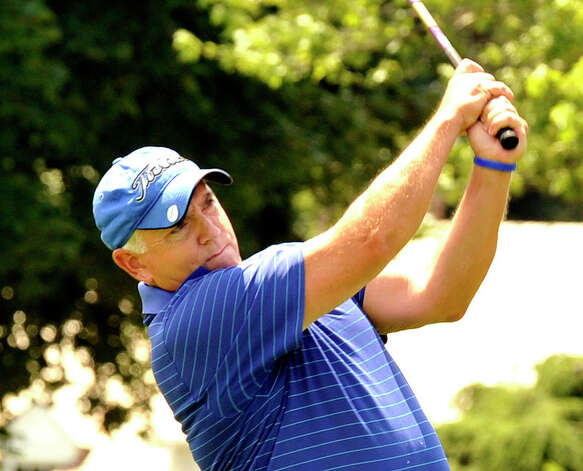 Chris Kelly plays in the 22nd Annual Danbury Amateur golf championship at Richter Park Golf Course Sunday, July 22, 2012. Photo: Michael Duffy