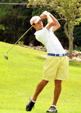 Addison Owens plays in the 22nd Annual Danbury Amateur golf championship at Richter Park Golf Course Sunday, July 22, 2012. Photo: Michael Duffy / The News-Times