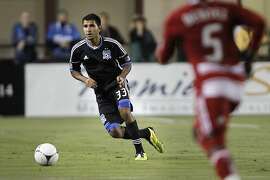 San Jose Earthquakes'  Steven Beitashour, plays during the first half as the Earthqukes go on to beat FC Dallas 2-1,  at Buck Shaw Stadium on Wednesday July 18.2012 in  Santa Clara, Ca.