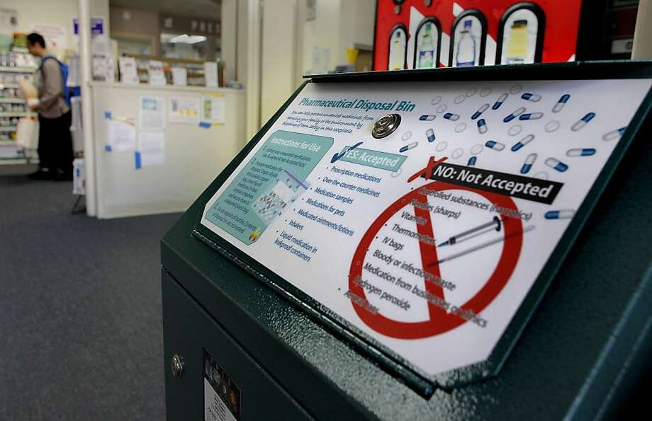 Berkeley's United Pharmacy already has a bin on site to dispose of unwanted or expired drugs. Photo: Michael Macor, The Chronicle