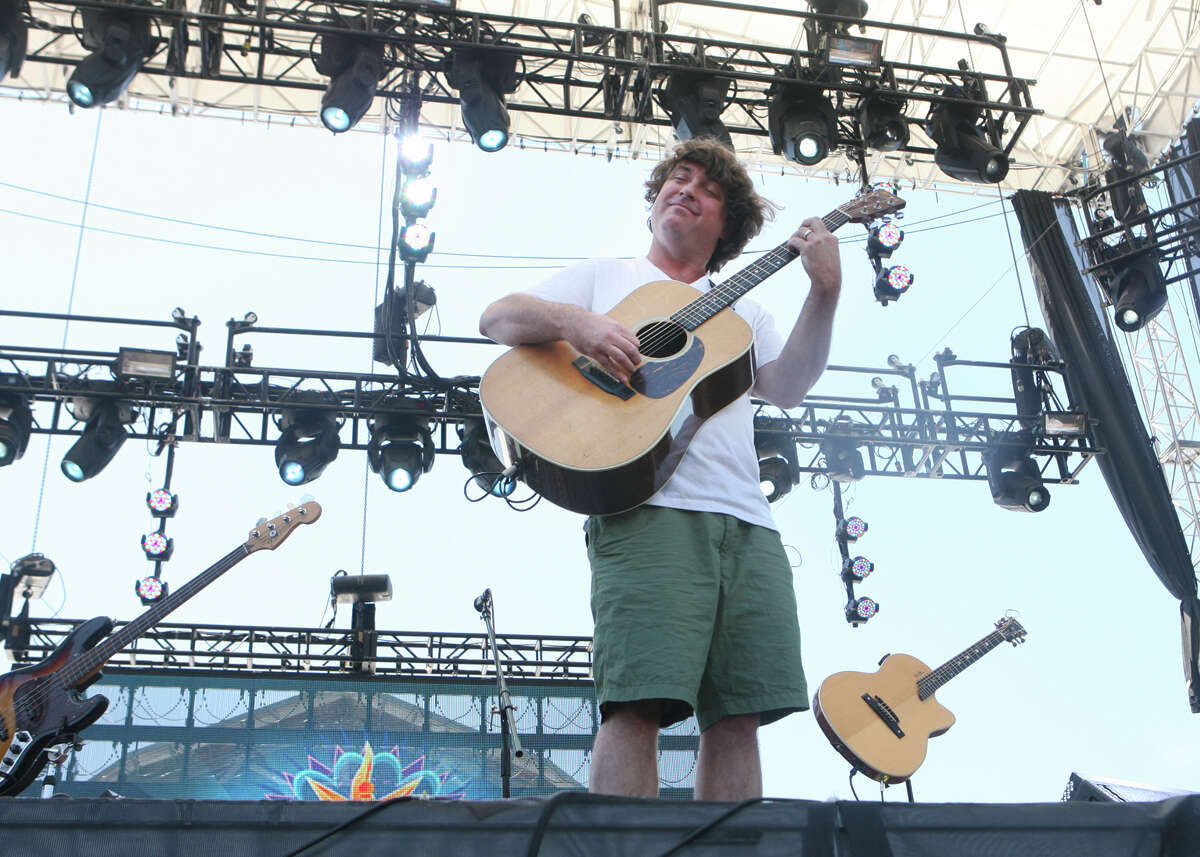 Keller Williams plays at the Gathering of the Vibes at Seaside Park in Bridgeport, Conn. Sunday, July 22, 2012.