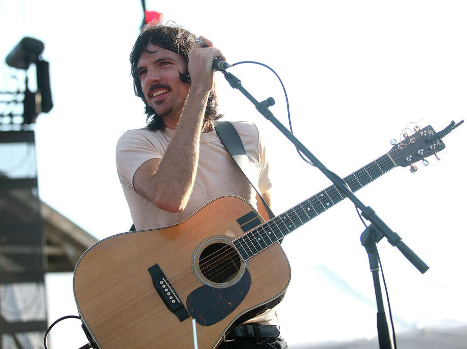 Seth Avett of Avett Brothers performs on the main stage at the Gathering of the Vibes in Bridgeport on Sunday, July 22, 2012. Photo: Brian A. Pounds / Connecticut Post freelance