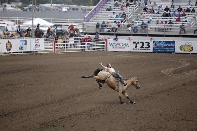 J.R. Vezain, from Cowley, WY, competes in the events at the annual Salinas rodeo on Sunday, July 22, 2012 in Salinas, Calif. Photo: Megan Farmer, The Chronicle