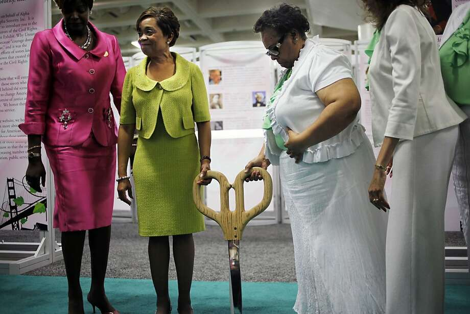 "Carolyn House Stewart, International President of the AKA sorority is going to cut the ribbon for the ""Unsung Alpha Kappa Alpha Women of the Civil Rights Movement"" Exhibition which is held in Moscone Convention Center. San Francisco, Calif. on Sunday, July 22, 2012. Photo: Sonja Och, The Chronicle"