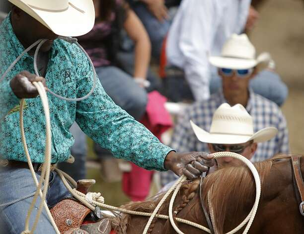 Fred Whitfield gets ready to compete at the annual Salinas rodeo on Sunday, July 22, 2012 in Salinas, Calif. Photo: Megan Farmer, The Chronicle