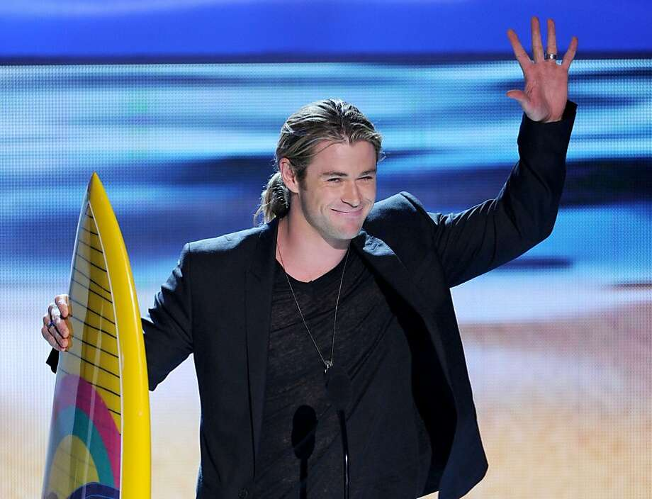 UNIVERSAL CITY, CA - JULY 22:  Actor Chris Hemsworth accepts the Choice Summer Male Movie Star award onstage during the 2012 Teen Choice Awards at Gibson Amphitheatre on July 22, 2012 in Universal City, California.  (Photo by Kevin Winter/Getty Images) Photo: Kevin Winter, Getty Images