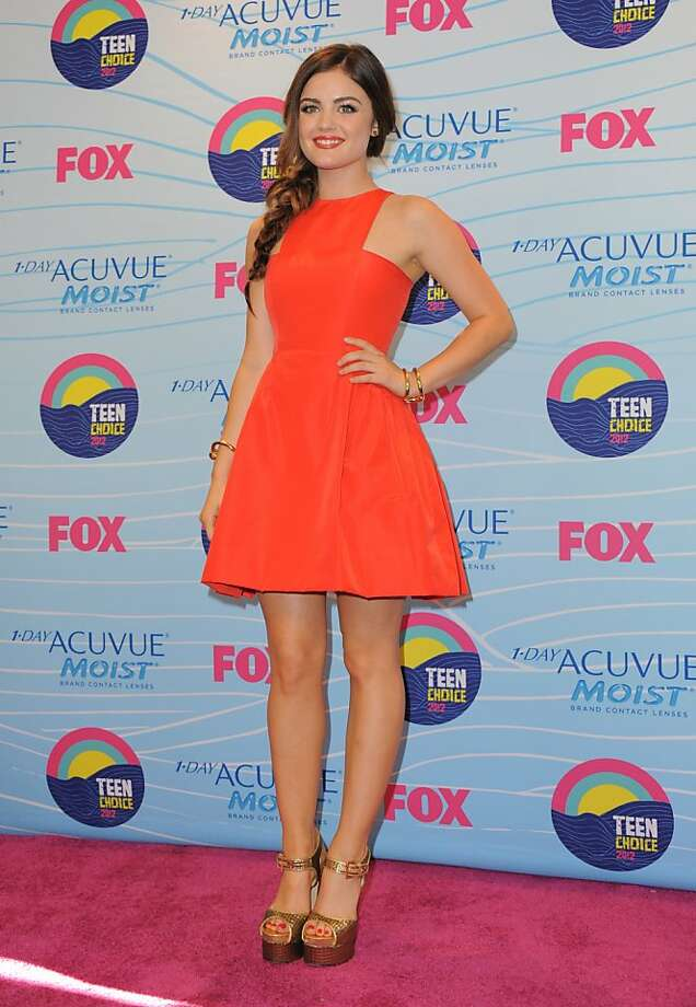 Lucy Hale poses backstage at the Teen Choice Awards on Sunday, July 22, 2012, in Universal City, Calif. (Photo by Jordan Strauss/Invision/AP) Photo: Jordan Strauss, Associated Press
