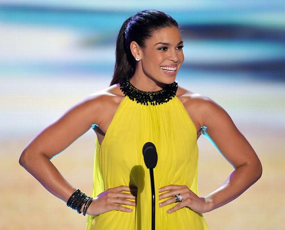 Jordin Sparks speaks onstage at the Teen Choice Awards on Sunday, July 22, 2012, in Universal City, Calif. (Photo by John Shearer/Invision/AP) Photo: John Shearer, Associated Press
