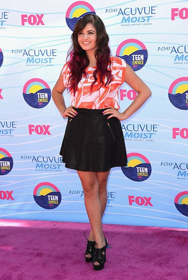 UNIVERSAL CITY, CA - JULY 22:  Singer Rebecca Black arrives at the 2012 Teen Choice Awards at Gibson Amphitheatre on July 22, 2012 in Universal City, California.  (Photo by Jason Merritt/Getty Images) Photo: Jason Merritt, Getty Images