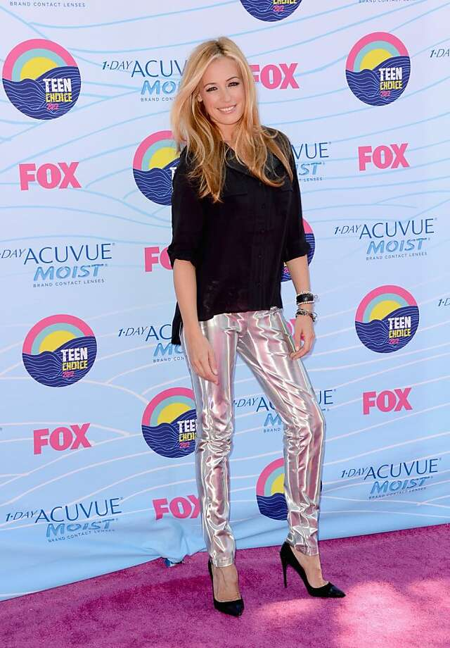 UNIVERSAL CITY, CA - JULY 22:  Actress Cat Deeley arrives at the 2012 Teen Choice Awards at Gibson Amphitheatre on July 22, 2012 in Universal City, California.  (Photo by Jason Merritt/Getty Images) Photo: Jason Merritt, Getty Images