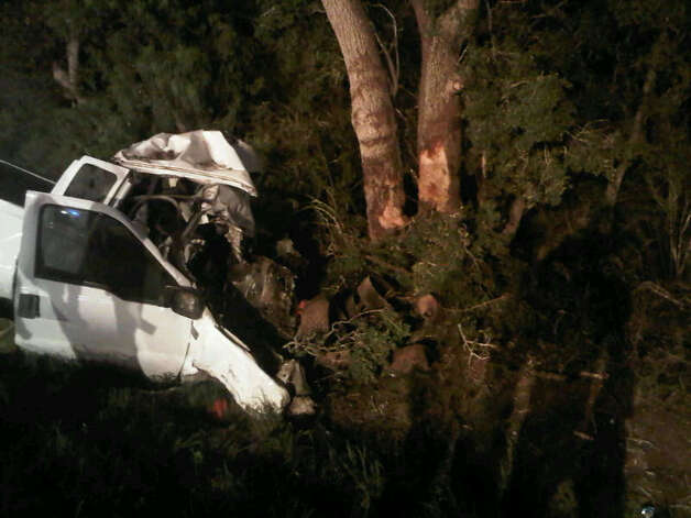 Eleven people were reportedly killed and a dozen others were injured in a single-vehicle crash near Berclair in Goliad County Sunday evening, according to the Texas Department of Public Safety. Photo: Courtesy Photo / Texas Department Of Public Safety