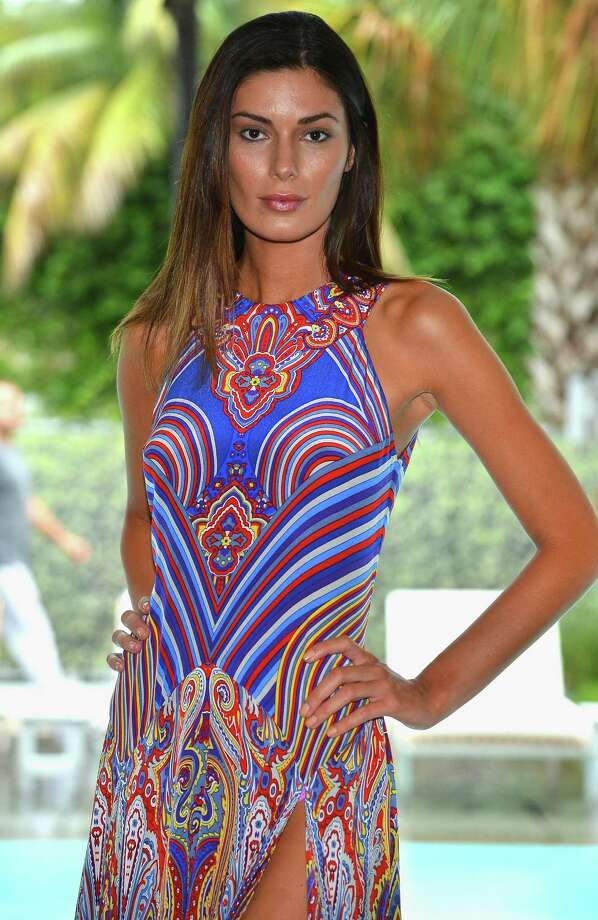 A model walks the runway at the Gottex show during  Mercedes-Benz Fashion Week Swim 2013 at SLS Hotel on July 22, 2012 in Miami Beach, Florida. Photo: Frazer Harrison, Getty Images / 2012 Getty Images
