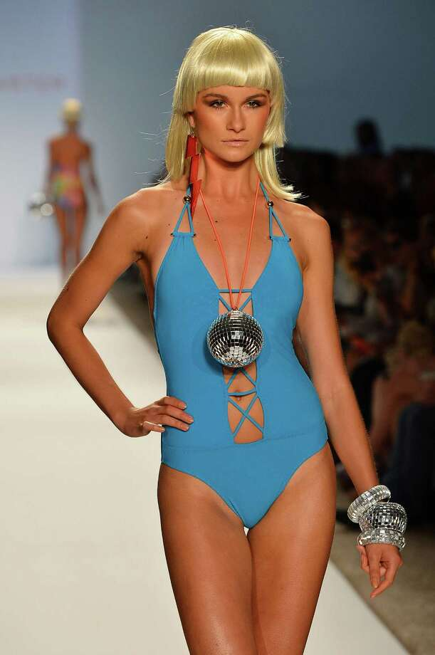 A model walks the runway at the Red Carter show. Photo: Frazer Harrison, Getty Images For Mercedes-Benz Fashion Week Swim 2013 / 2012 Getty Images