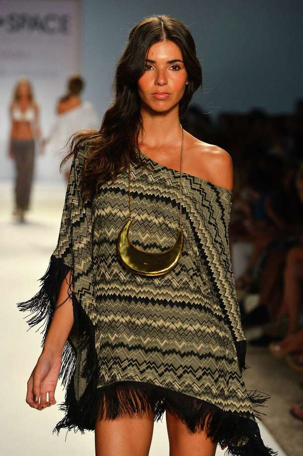 A model walks the runway at The Collection by L Space show. Photo: Frazer Harrison, Getty Images For L Space / 2012 Getty Images