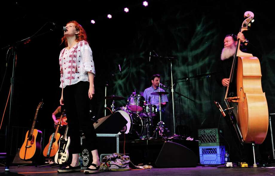 Neko Case begins to perform on the Main Stage. Photo: LINDSEY WASSON / SEATTLEPI.COM