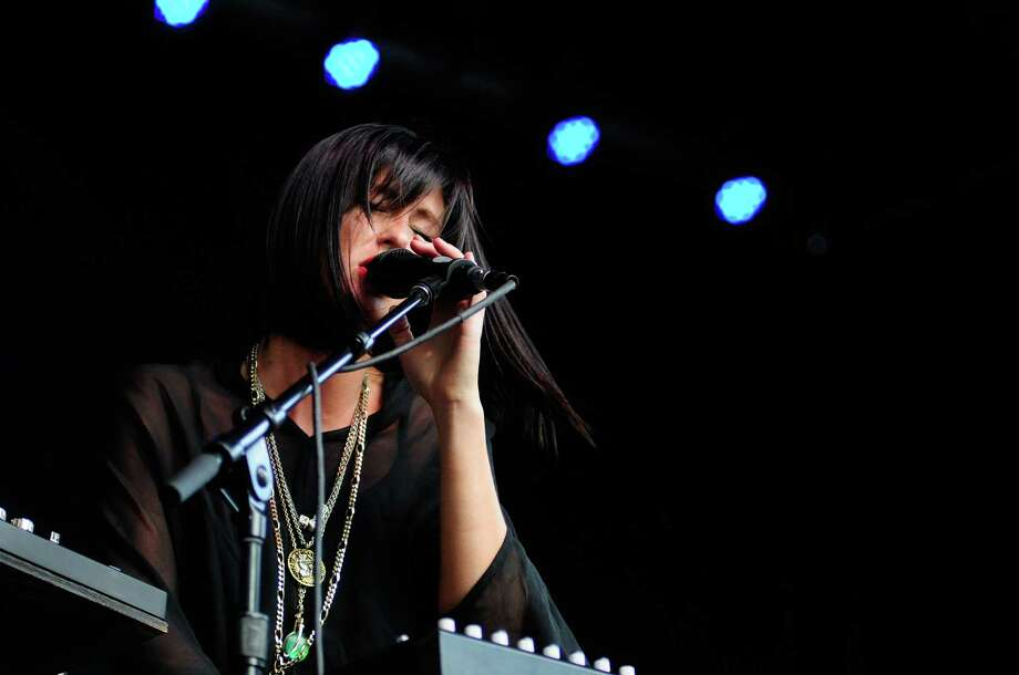 Sarah Barthel of Phantogram performs. Photo: LINDSEY WASSON / SEATTLEPI.COM