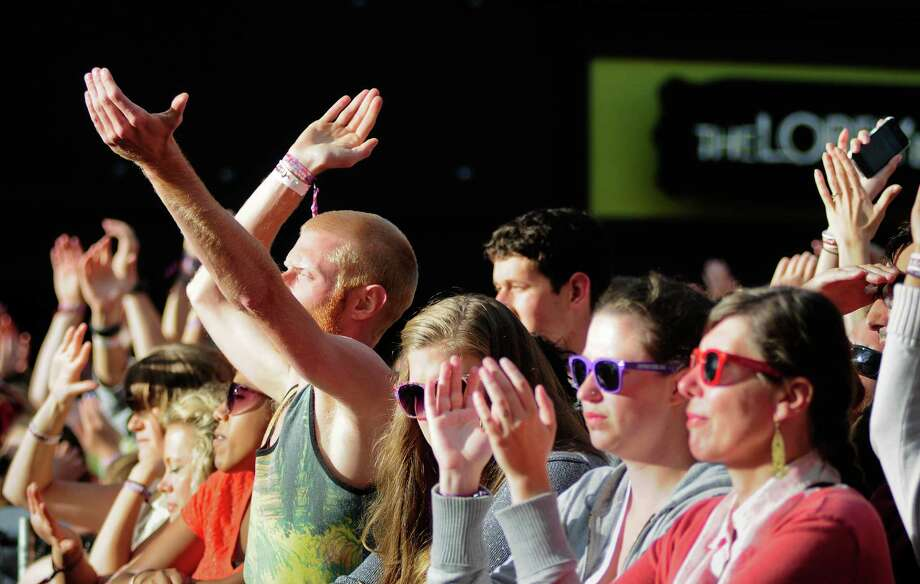Audience members clap as Phantogram finishes a song. Photo: LINDSEY WASSON / SEATTLEPI.COM