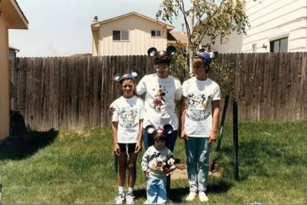 This family's dad insisted on documenting the family trip to Disneyland. In his backyard. In Wyoming.