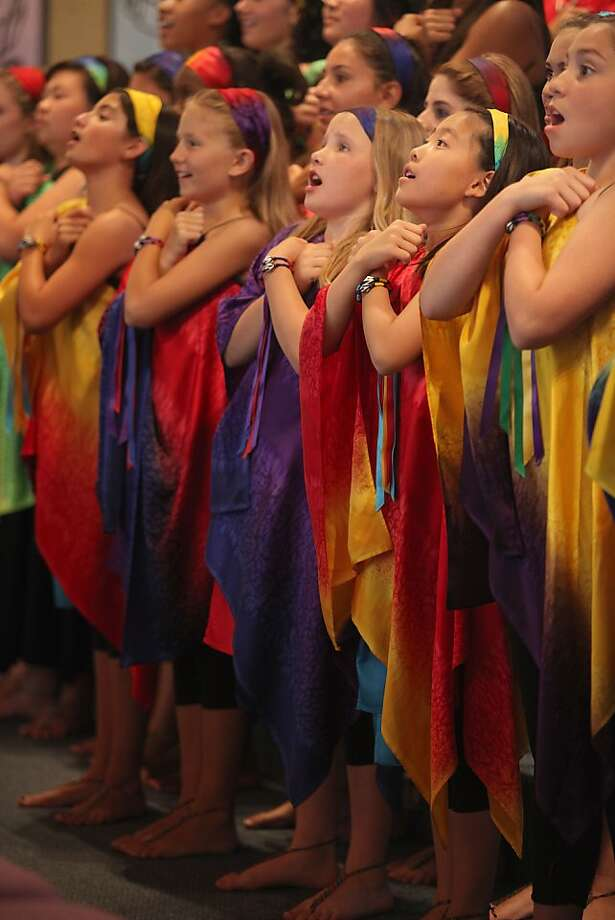 The Voena choir rehearsing at First Baptist church in Benicia, Calif.,  on Thursday, July 19, 2012. Photo: Liz Hafalia, The Chronicle