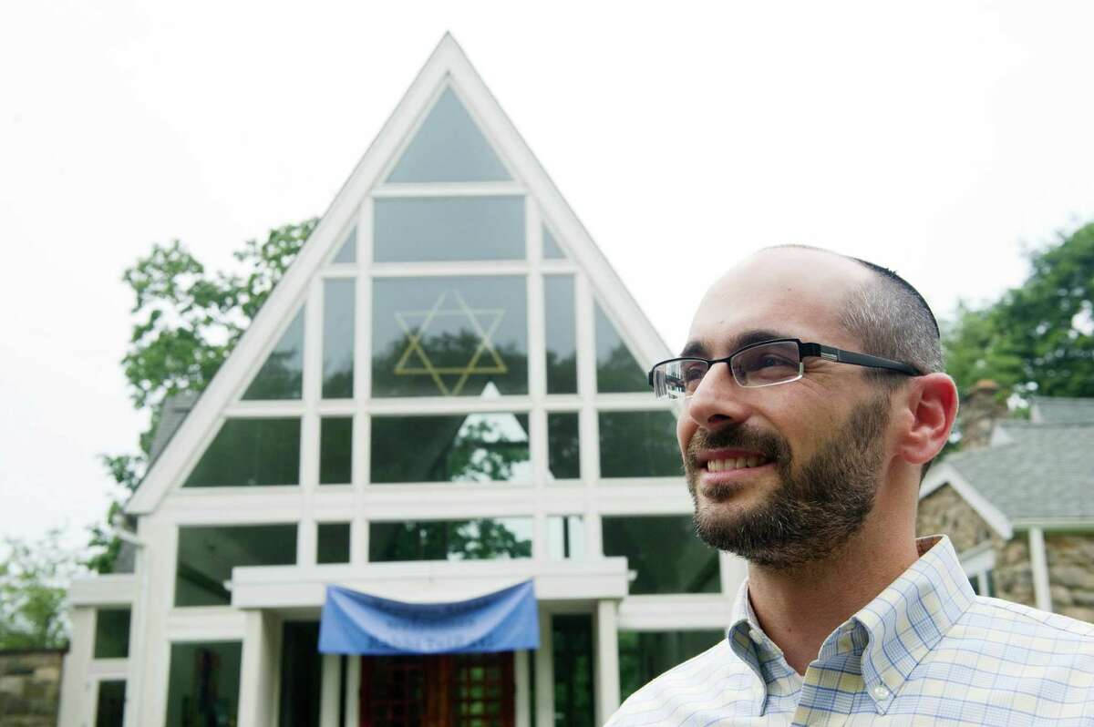 Temple Sinai new Rabbi Jay TelRav photographed at the temple in Stamford, Conn., July 23, 2012.