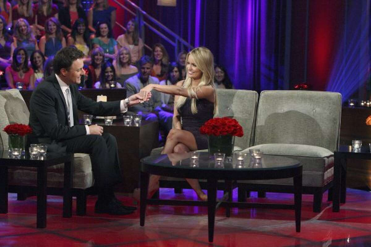 """Chris Harrison and Emily Maynard on """"The Bachelorette: After the Final Rose."""" (RICK ROWELL / ABC)"""