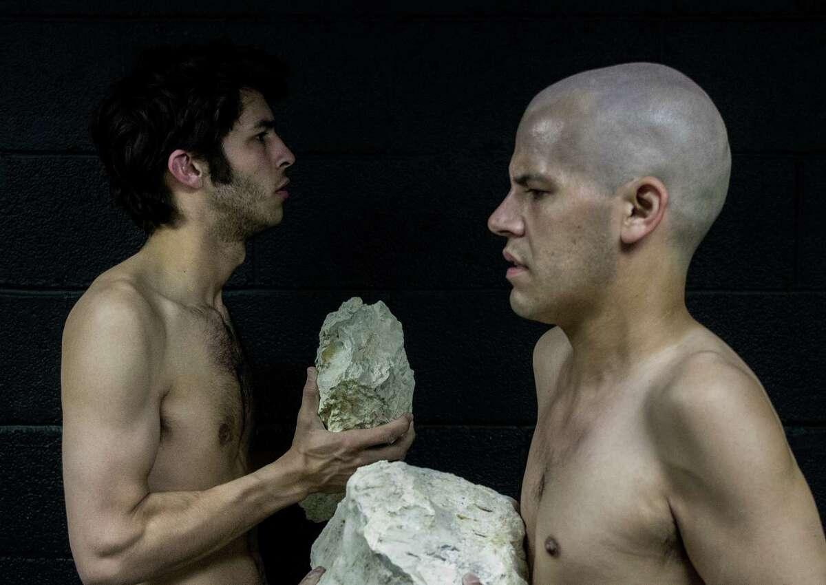 "Rodman Bolek (left) and Richard David Anthony appear in the Proxy Theatre Company's ""Bent."""