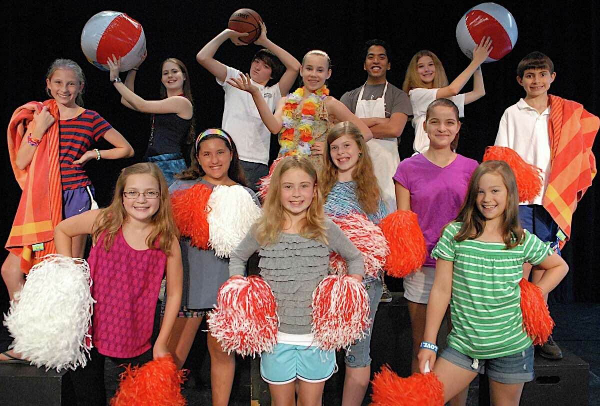"""Cast of the Summer Theatre of New Canaan Junior Companyís production of Disneyís """"High School Musical 2."""" Presented July 27, 2012, at 4 p.m. at the Festival Tent Theatre as part of the Summer Theatre of New Canaanís Festival at Waveny Park. Admission is Free."""