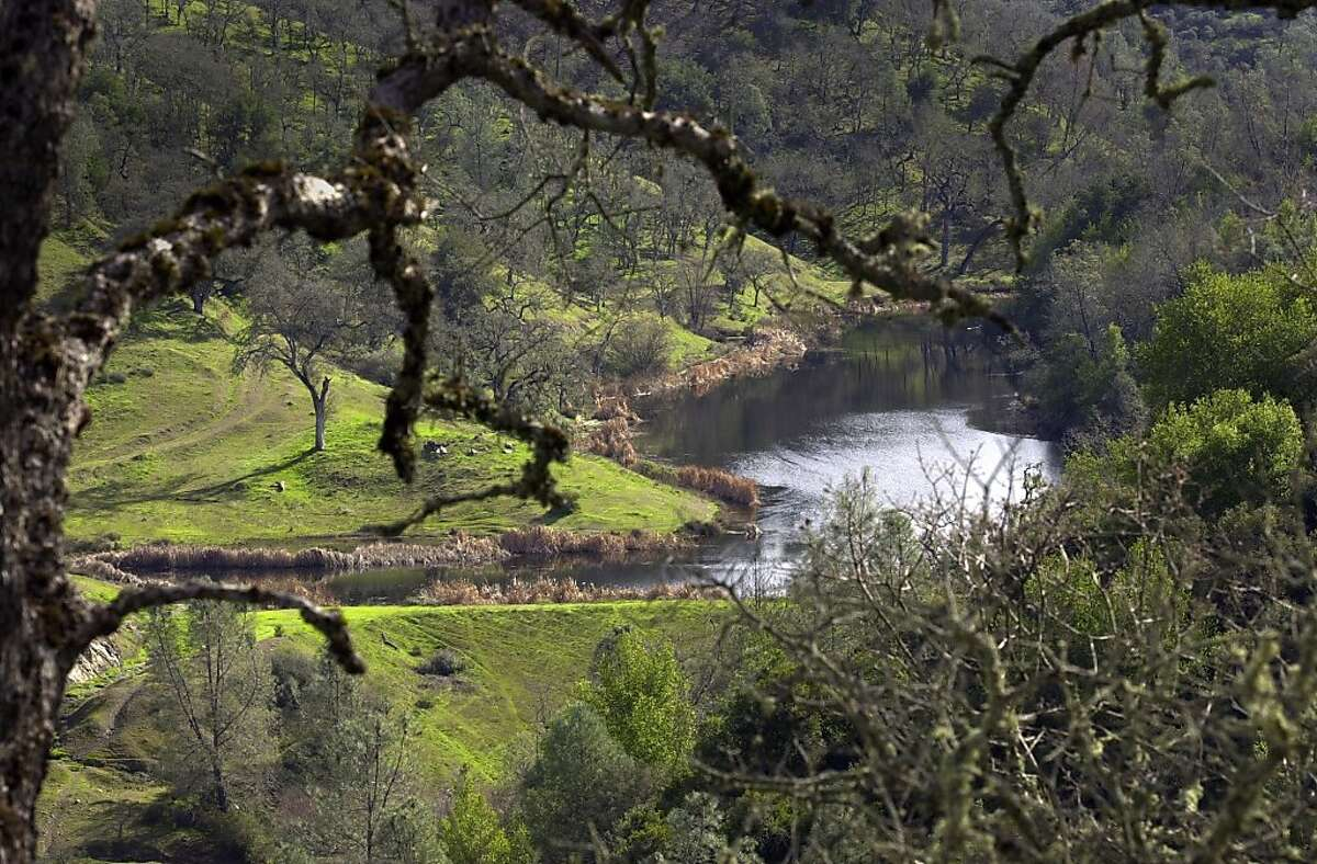 Kelly Lake runs through the Henry Coe State Park, in Gilroy in 2003.