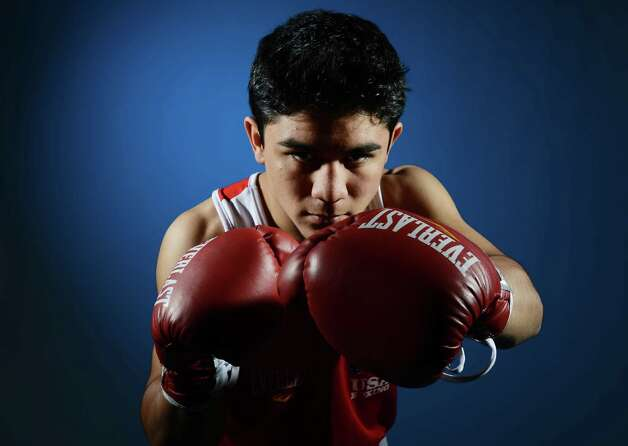 Joseph Diaz Jr of the US Boxing team poses for pictures during a photo session during the 2012 Team USA Media Summit on May 15, 2012 in Dallas,Texas.AFP PHOTO/JOE KLAMAR        (Photo credit should read JOE KLAMAR/AFP/GettyImages) Photo: JOE KLAMAR, AFP/Getty Images / 2012 AFP