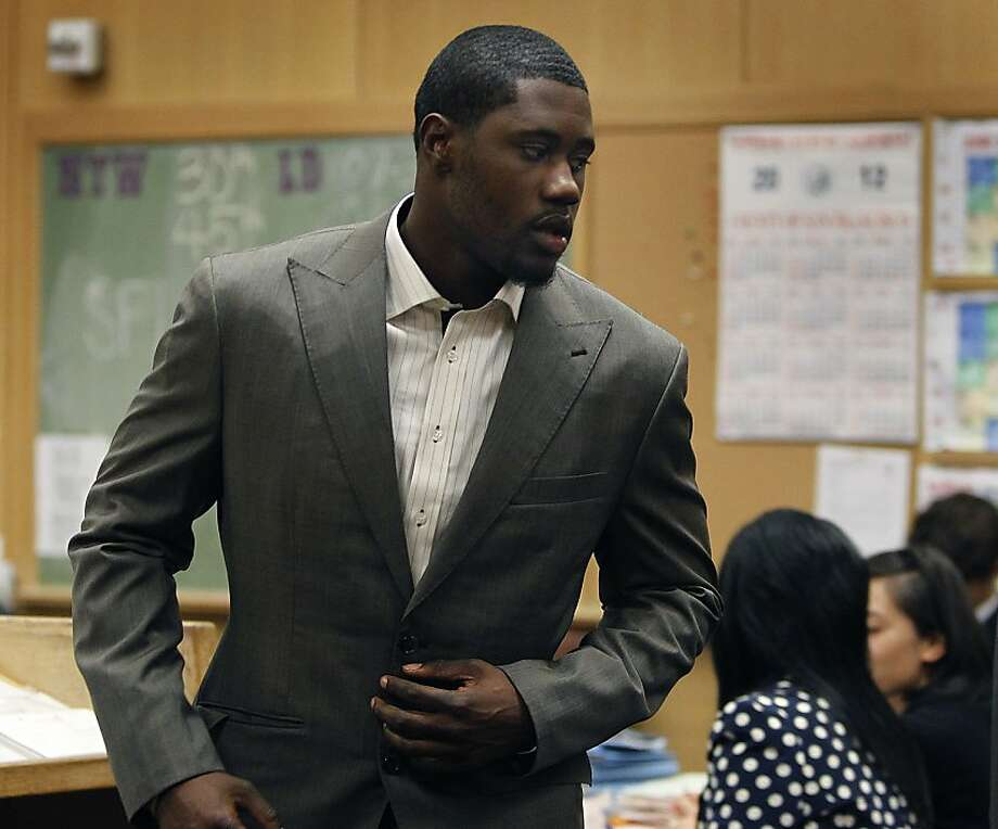 Oakland Raiders wide receiver Darrius Heyward-Bey leaves the courtroom after a hearing for his DUI arrest at the Hall of Justice in San Francisco, Calif. on Thursday, June 28, 2012. Heyward-Bey was stopped by police officers on the Bay Bridge for allegedly driving under the influence on April 7. Photo: Paul Chinn, The Chronicle