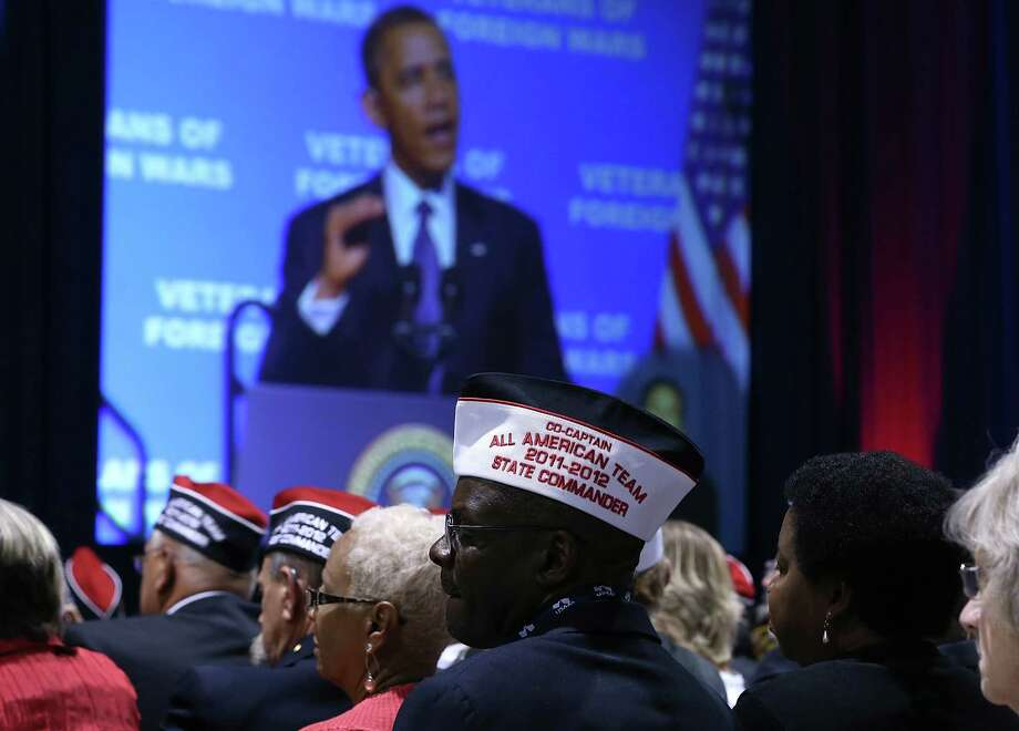 Speaking at the 113th National Convention of the Veterans of Foreign Wars in Reno, Nev., on Monday, President Barack Obama touted work to end the Iraq war. Photo: Justin Sullivan / 2012 Getty Images