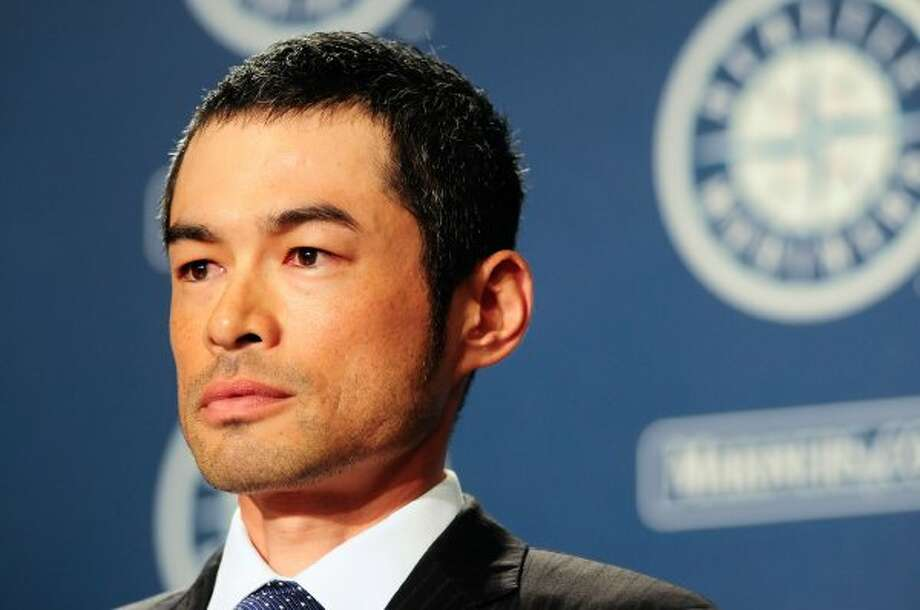 Ichiro Suzuki holds back tears as he discusses his trade to the New York Yankees during a press conference at Safeco Field on Monday, July 23, 2012. Suzuki was traded for right-handed pitchers D.J. Mitchell and Danny Farquhar. (Lindsey Wasson / seattlepi.com)