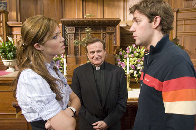 """License to Wed"" (2007):  Robin Williams as a zany, very annoying priest. (AP)"