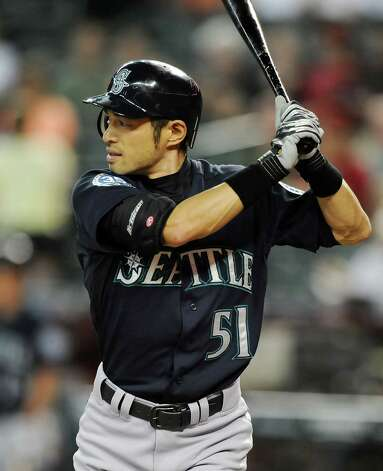 FILE - JULY 23, 2012: According to reports the Seattle Mariners traded Ichiro Suzuki to the New York Yankees for two minor league pitchers.  PHOENIX, AZ - JUNE 19:  Ichiro Suzuki #51 of the Seattle Mariners gets ready in the batters box against the Arizona Diamondbacks at Chase Field on June 19, 2012 in Phoenix, Arizona.  (Photo by Norm Hall/Getty Images) Photo: Norm Hall