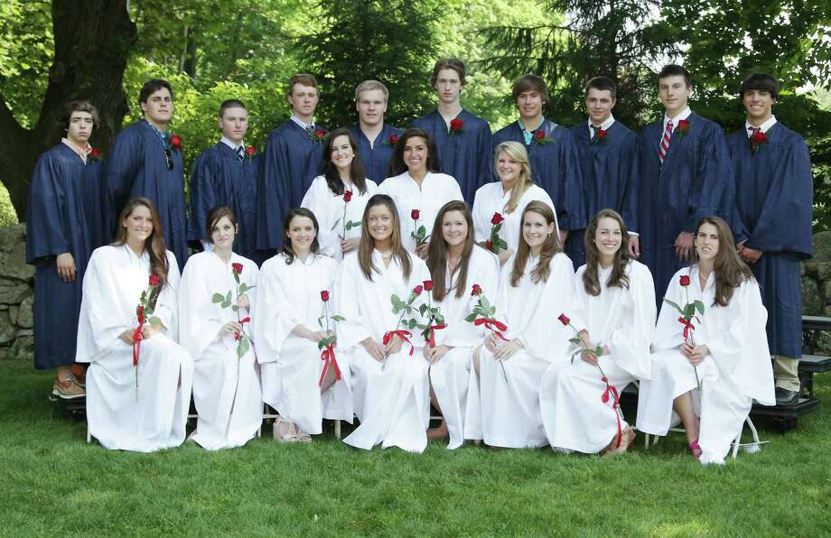 Above, 21 New Canaan and Darien students graduated from KingâÄôs during the schoolâÄôs 147th graduation ceremony on June 10, 2012, in Stamford, Conn. Photo: Contributed Photo
